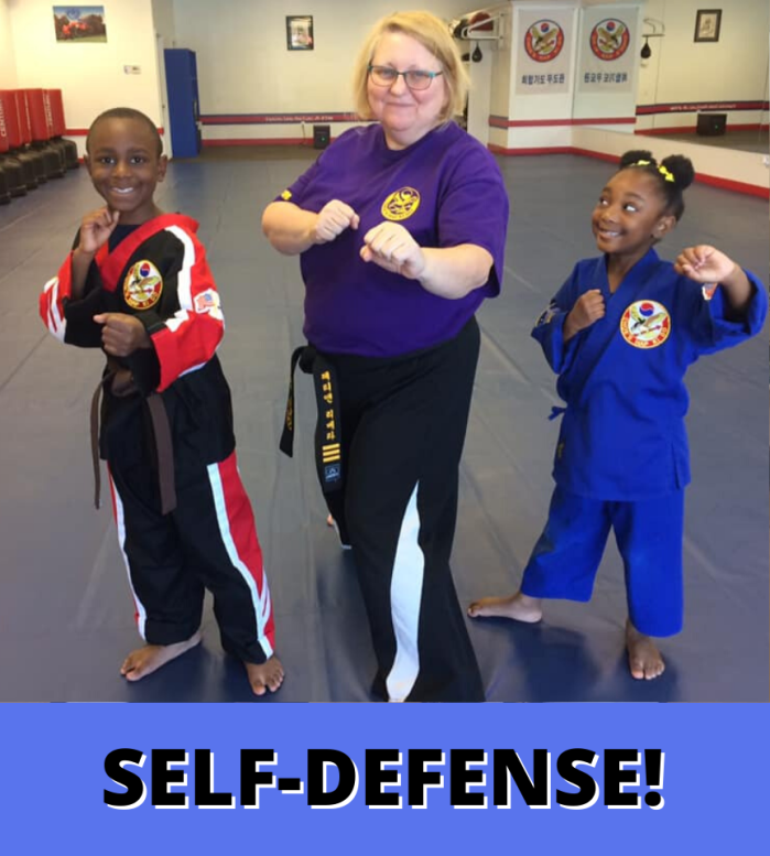 Self-Defense at Kids Martial Arts Grayson GA